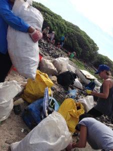 ハワイ島ビーチクリーン活動